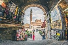 Vue de Piazza del Campo Images libres de droits