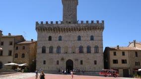 Vue de Piazza Grande chez Montepulciano clips vidéos