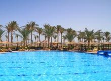 Vue de piscine Photo stock