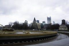 Vue de Pittsburgh pendant l'hiver Images libres de droits
