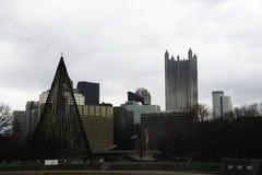 Vue de Pittsburgh pendant l'hiver Photos stock