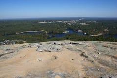 Vue de placé sur la montagne en pierre Image libre de droits