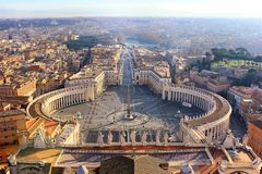 Vue de place du ` s de StPeter à Vatican, Rome, Italie images stock