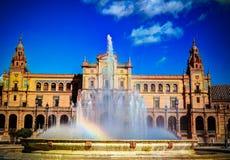 Vue de place de l'Europe en Séville en Espagne Photo libre de droits