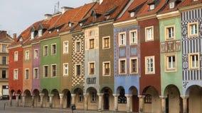 Vue de place principale Rynek de ville Poznan banque de vidéos