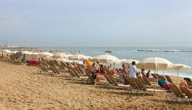 Vue de plage à Barcelone Image stock