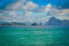 Vue de plage à Philippines Image libre de droits