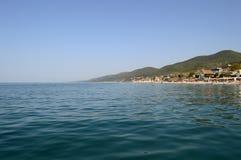 Vue de plage à Sotchi, Russie Photographie stock