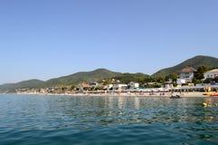 Vue de plage à Sotchi, Russie Image stock