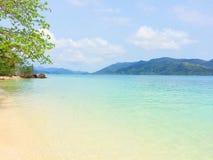 Vue de plage Photo stock