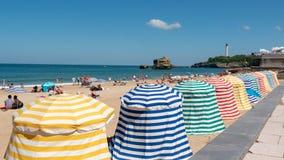 Vue de plage de Biarritz par l'Océan Atlantique, France Images stock