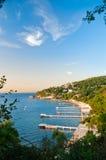 Vue de plage d'été Image stock