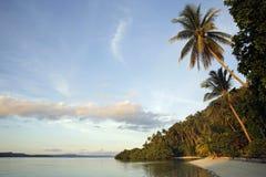 Vue de plage d'île de Mansuar Image libre de droits