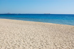 Vue de plage d'île de Naxos Image libre de droits