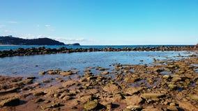 Vue de plage d'Avoca Images stock