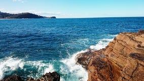 Vue de plage d'Avoca Photographie stock