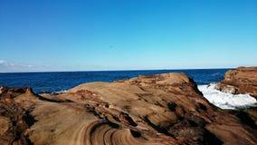 Vue de plage d'Avoca Photo stock