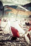 Vue de plage d'Ipanema le soir, Brésil Photographie stock libre de droits
