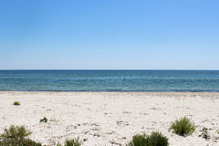 Vue de plage dans le midi Photographie stock