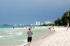 Vue de plage de HUAHIN Images stock