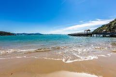 Vue de plage de Laranjeiras, Balneario Camboriu Santa Catarina Photographie stock