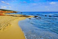 Plage de Migjorn à Formentera, Îles Baléares, Espagne Photo libre de droits