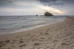 Vue de plage de Ngandong, kidul de Gunung Images libres de droits