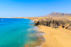 Vue de plage de Papagayo Images stock