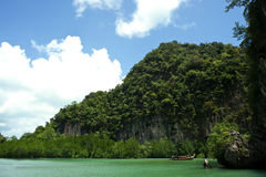 Vue de plage de plage thaïlandaise Photographie stock libre de droits