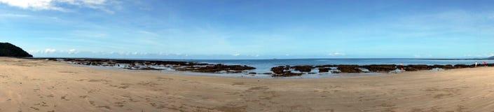 Vue de plage de Thornton Images libres de droits