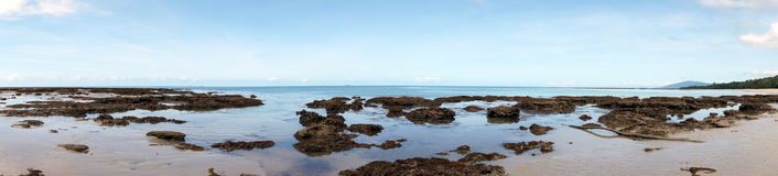 Vue de plage de Thornton Image stock