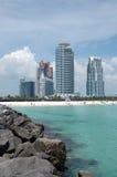 Vue de plage du sud de jetée Image stock