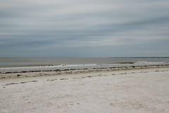 Vue de plage de Fort Myers sur l'île d'Estero en Floride images libres de droits
