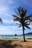 Vue de plage de paysage en plage de Patong Images stock