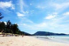 Vue de plage de paysage en plage de Patong Photo stock