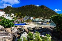 Vue de plage de St Maarten image libre de droits