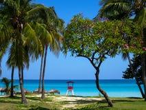 Vue de plage de Varadero, Cuba photos stock