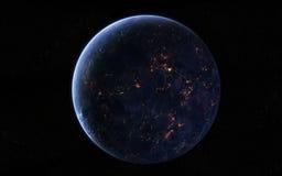 Vue de planète illustration libre de droits