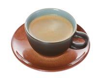 Vue de plan de cuvette de café image libre de droits