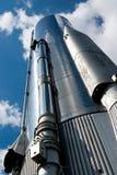 Vue de plan rapproché de base d'atlas Rocket photographie stock