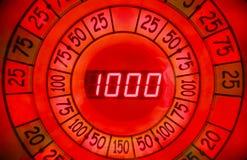 Vue de plan rapproché de bobine de roulette électronique Photos libres de droits