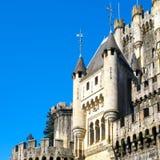 Vue de plan rapproché de château de Butron Image libre de droits