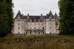 Vue de plan rapproché de château de La Roche Courbon Image stock