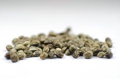 Vue de plan rapproché de détail des graines médicales de marijuana Photographie stock