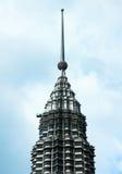 Vue de plan rapproché de dessus de tour de Petronas, Kuala Lumpur Photo libre de droits