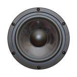 Vue de plan rapproché de haut-parleur de basse noire Image libre de droits