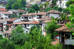 Vue de plan rapproché de Veliko Tarnovo Images libres de droits