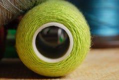 Vue de plan rapproché des amorçages de coton Image stock