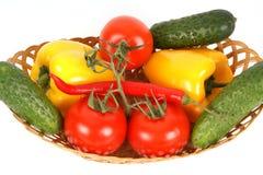 Vue de plan rapproché des légumes Photographie stock libre de droits
