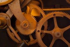 Vue de plan rapproché des roues de vitesses de moteur, Images stock
